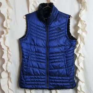 The North Face Mossbud Swirl Reversible vest blue